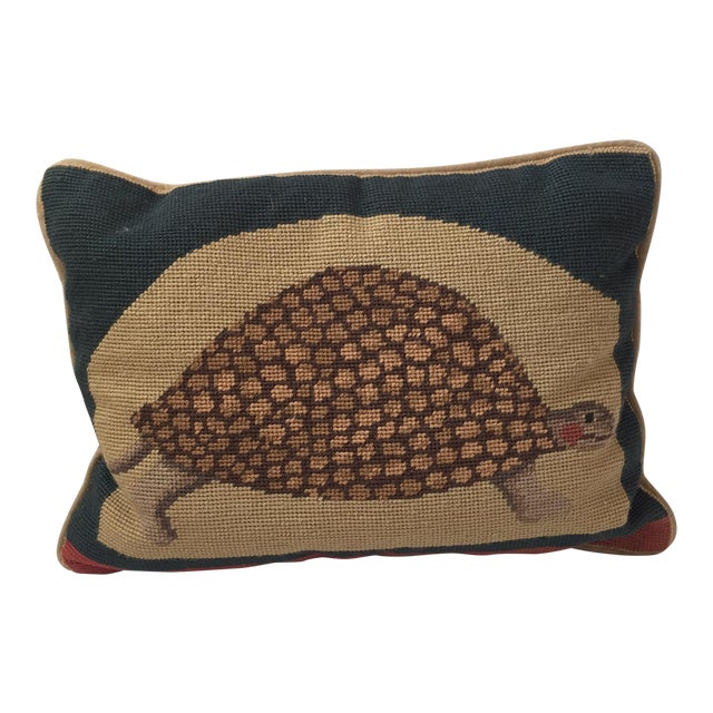 Needlepoint Turtle Accent Pillow - Image 1 of 6