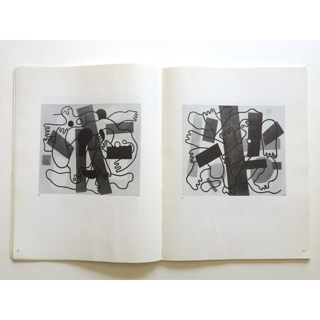 """Cubism Fernand Leger Rare Vtg 1962 Lmtd Edtn """" Five Themes & Variations """" Guggenheim Museum Exhibition Catalogue Collector's Art Book For Sale - Image 3 of 13"""