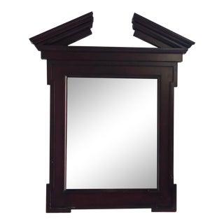 John Hutton for Donghia Broken Pediment Mirror For Sale