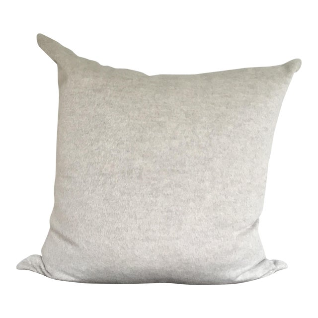 Oatmeal Alpaca & Wool Pillow For Sale