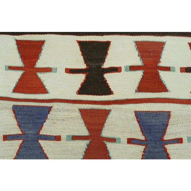 "Vintage Turkish Kilim Runner-3'5'x10'11"" For Sale - Image 10 of 13"