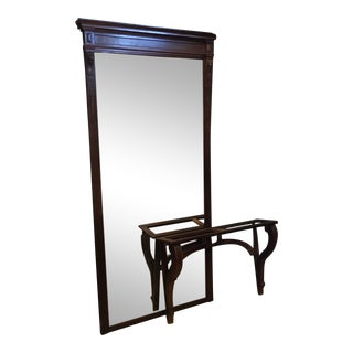 10 Foot Tall 19th C. Continental Pier Mirror & Console