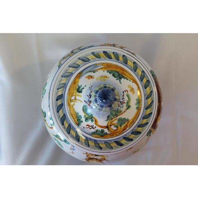 Ceramic Vintage Ernan Italian Hand Painted Ceramic Lidded Urn For Sale - Image 7 of 10