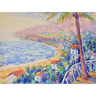 Drawing of View From Pacific Palisades to Malibu For Sale