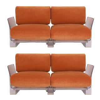 Pair of Lucite Love Seats/ Sofas by Piero Lissoni for Kartell For Sale