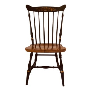 Vintage Hitchcock Stenciled Two-Tone Side Chair For Sale