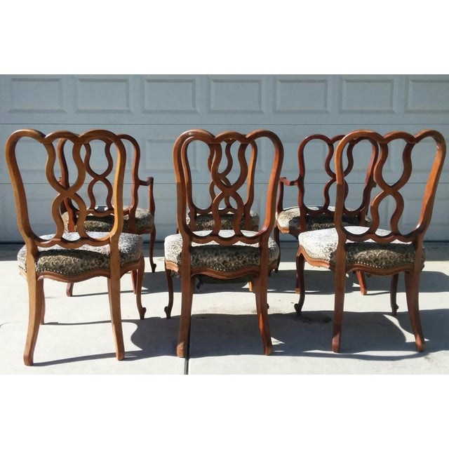Early 20th Century Vintage Louis XV French Ribbon Back Chairs - Set of 6 For Sale - Image 4 of 9