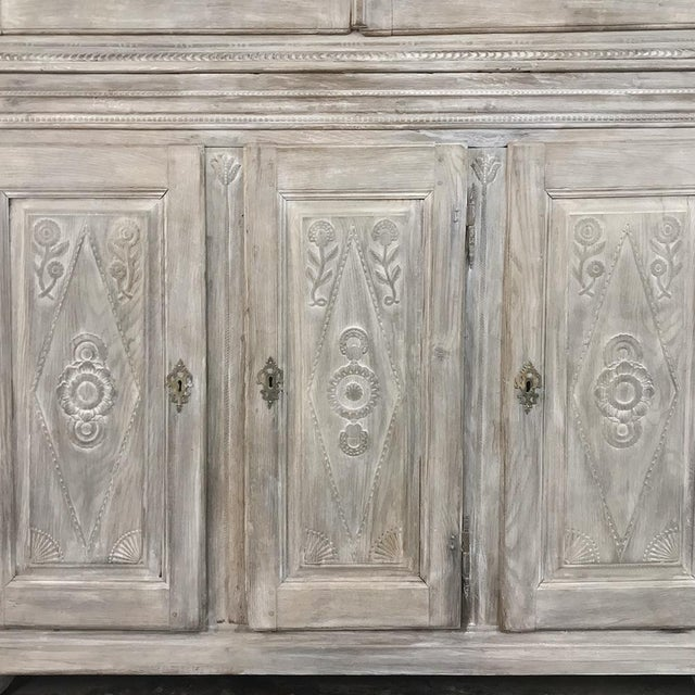 19th Century Country French Rustic Whitewashed Bookcase ~ Cabinet For Sale In Dallas - Image 6 of 13