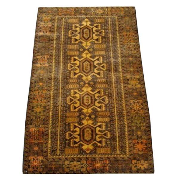 "100% Wool Tribal Rug - 3' 8"" X 5' 10"" - Image 1 of 4"