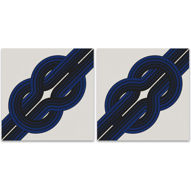 "Tie the ""Knot"" Large Vintage 1970 Prints - A Pair - Image 1 of 8"