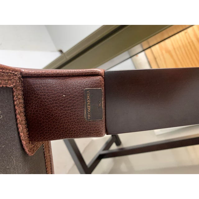 Promemoria Brown Leather Chair For Sale In Birmingham - Image 6 of 8