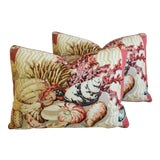 """Image of Cowtan & Tout Seashell & Coral Feather/Down Pillows 23"""" X 17"""" - Pair For Sale"""
