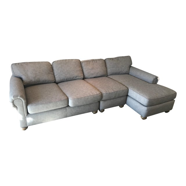 Restoration Hardware Gray Lancaster Sectional Sofa - Image 1 of 4