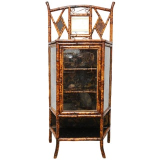 19th Century Boho Chic Bamboo Cabinet For Sale