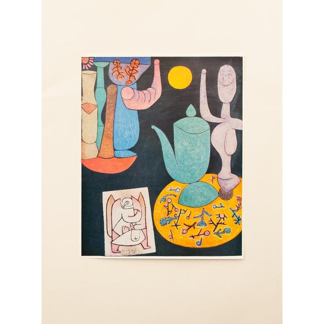 A striking vintage tipped-in lithograph after Still Life (1940) by Paul Klee, from the artist's portfolio published in...