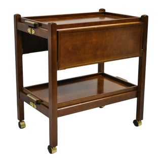 The Bombay Company Modern Rolling Folding Bar Cart For Sale