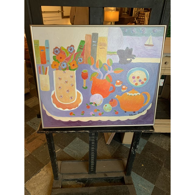Still Life Orange Kettle Painting by Alison Power For Sale - Image 4 of 4