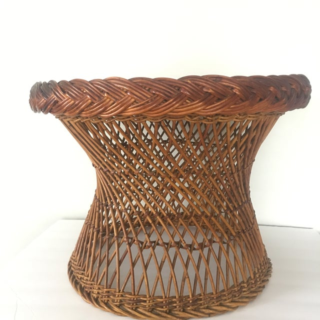 Vintage Bielecky Brothers Boho Rattan Round Coffee / Side Table For Sale - Image 13 of 13