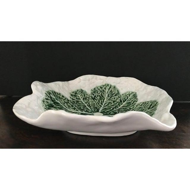 Ceramic Bordallo Pinheira Cauliflower Majolica Bowl For Sale - Image 7 of 10
