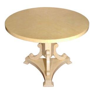 Tessellated Bone Pedestal Round Dining Table Artist Enrigue Garcel For Sale