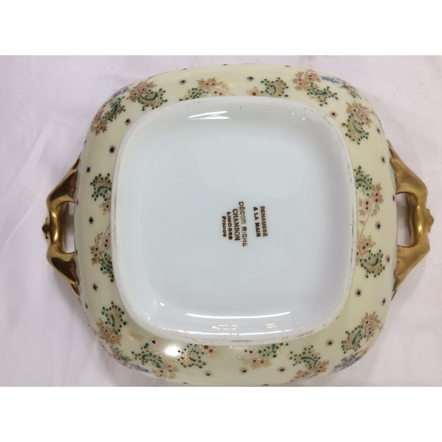 Rectangular Limoge Dish & Platter - A Pair For Sale - Image 9 of 10