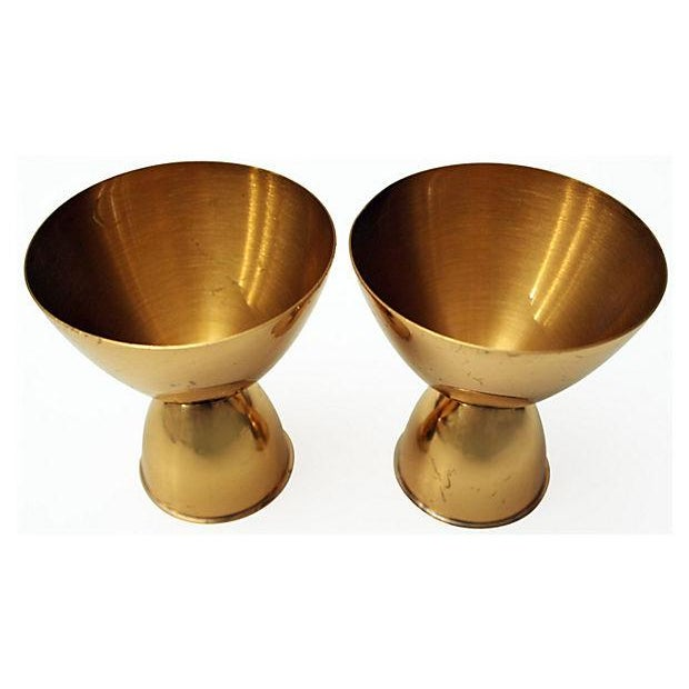 Art Deco Copper Candle Holders - A Pair - Image 4 of 4