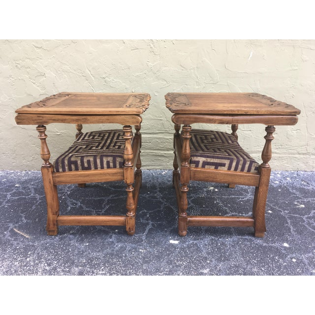 19th Century Convertible Pair of Monk's Chair or End Table,Foldable Armchair For Sale In Miami - Image 6 of 11