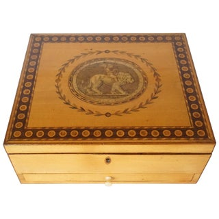 George III Satinwood Letter or Dresser Box, England, Circa 1785 For Sale