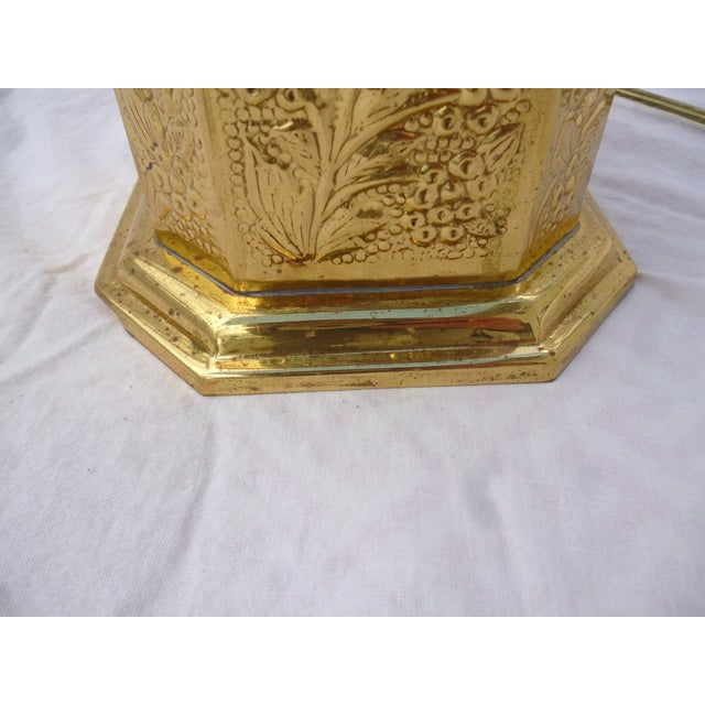 Golden Oriental Style Brass Lamp - Image 7 of 7