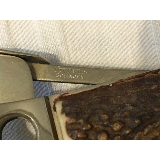 Vintage German Deer Antler Cigar Cutter - Image 4 of 5