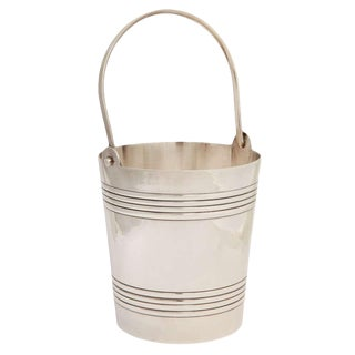 Signed Art Deco Nickel Silver Mini Champagne Bucket/Ice Bucket For Sale
