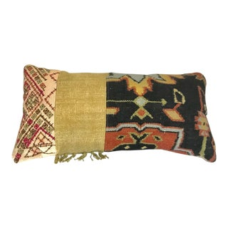 Rectangular South American Hand Woven Mixed Fabric Pillow For Sale
