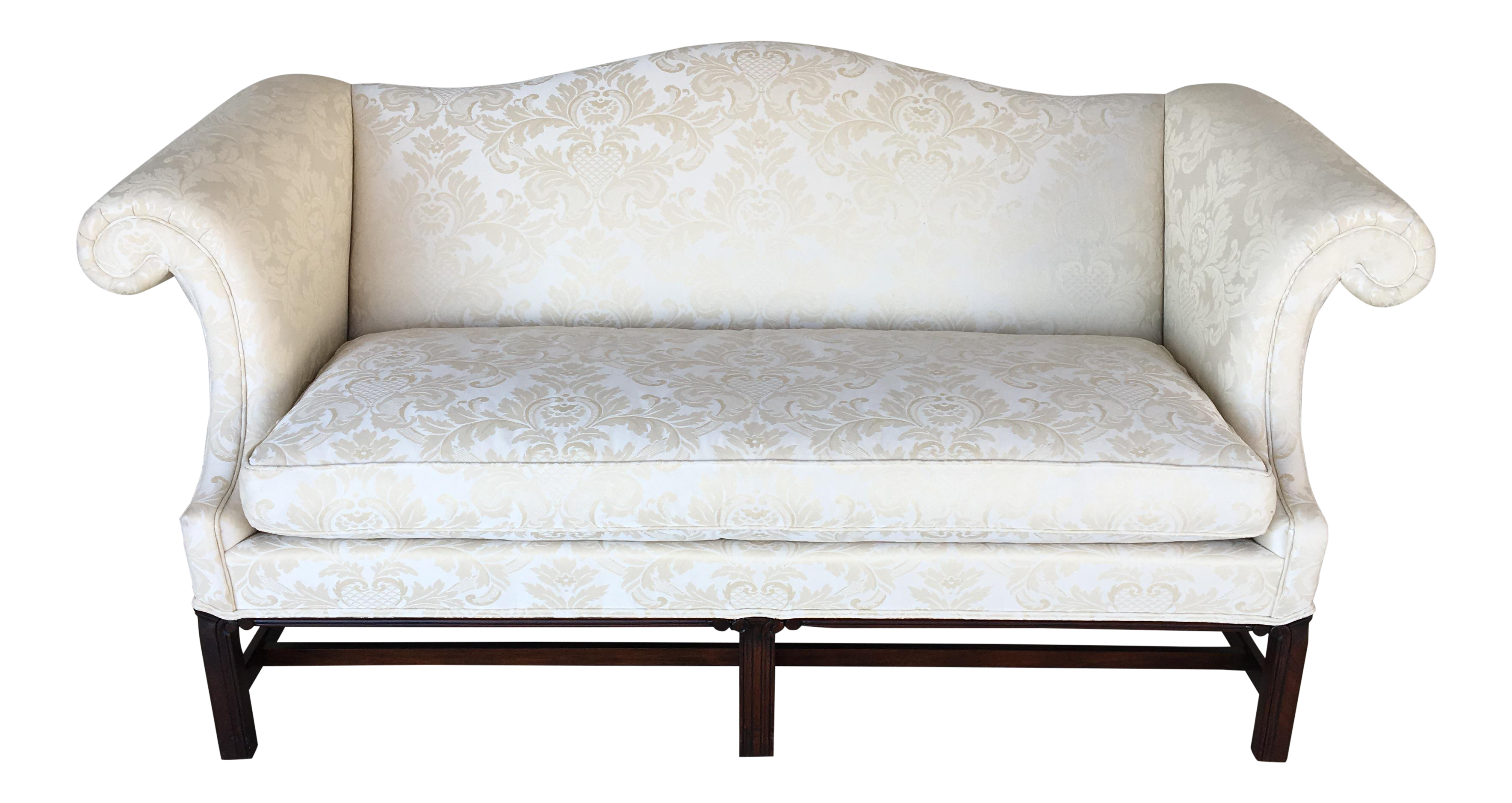 Hickory Chair Chippendale Style Formal Camel Back Sofa