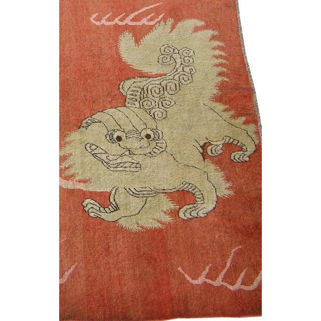 Primitive C. 1900s Antique Handmade Samarkand Rug - 5′7″ × 8′3″ For Sale - Image 3 of 7
