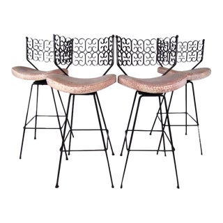 "Arthur Umanoff ""Granada"" Bar Stools for Boyeur Scott - Set of 4 For Sale"
