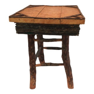 Cabin Style End Table For Sale