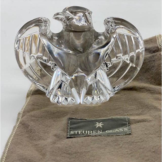 Vintage Steuben Glass Lloyd Atkins Crystal Decorative Eagle For Sale - Image 12 of 13