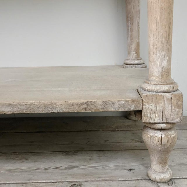 Antique Country French Whitewashed Console ~ Sofa Table For Sale - Image 9 of 13