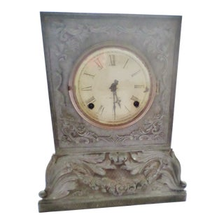 Antique Chauncey Jerome Pewter Front Shelf Clock For Sale