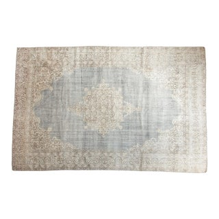 "Vintage Distressed Oushak Carpet- 6'8"" X 10'2"" For Sale"