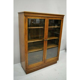 Antique Walnut Two Glass Door Small Cabinet Preview