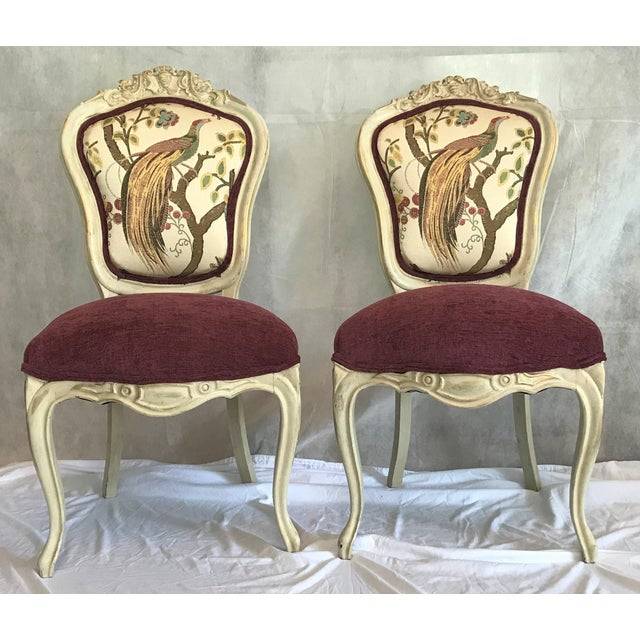 Red 19th Century Louis XV Château d'Amboise Parcel Gilt Chairs - a Pair For Sale - Image 8 of 8
