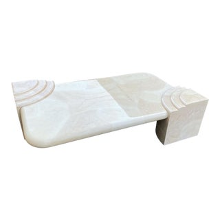 Lacquered Faux Goatskin Postmodern Coffee Table For Sale