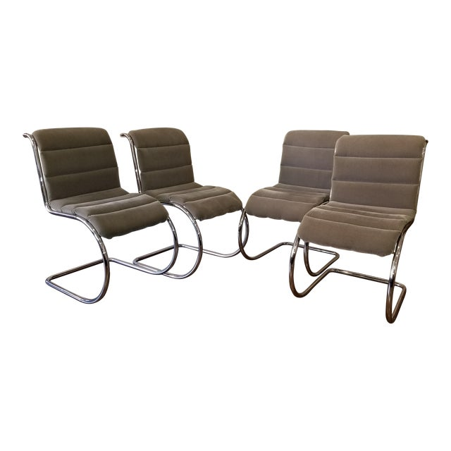 Mies Van Der Rohe Mr10 Cantilever Side Chairs - Set of 4 For Sale