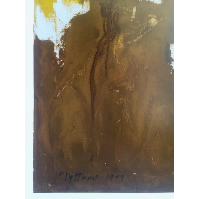"""Clyfford Still Abstract Expressionst Offset Lithograph Print Museum Poster """" Ph - 321 """" 1948 For Sale - Image 10 of 13"""