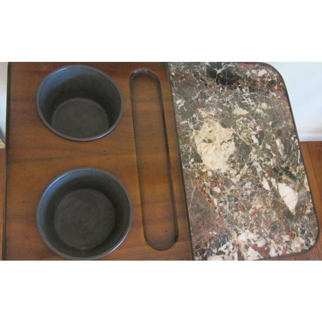 De Bournay Rafraichissoir Table With Marble Top - Image 2 of 10