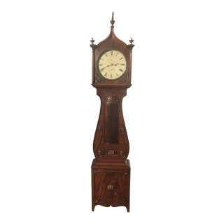 Scottish Mahogany Tall Case Clock For Sale