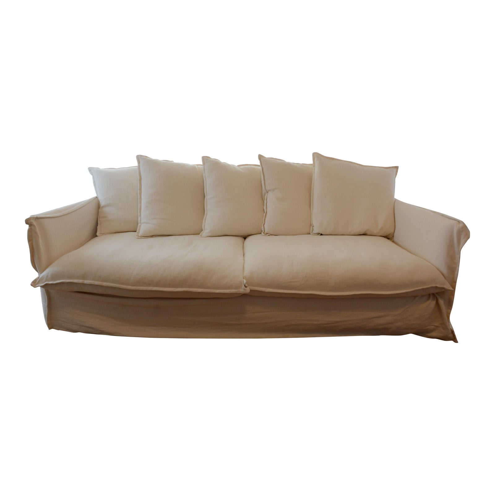 Crate barrel oasis sofa chairish