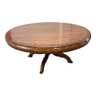 Traditional Alfonso Marina Round Banded Dining Table For Sale