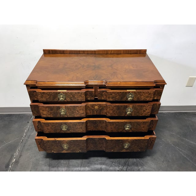 Early 20th Century Burl Walnut Block Front Bachelor Chest of Drawers - Image 5 of 11